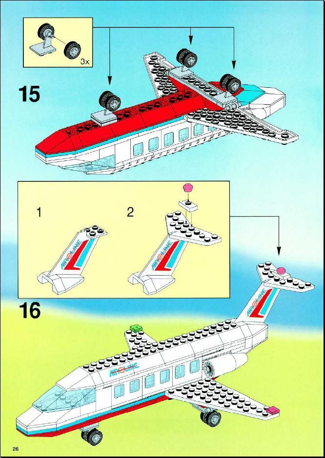Как сделать лего самолет инструкция
