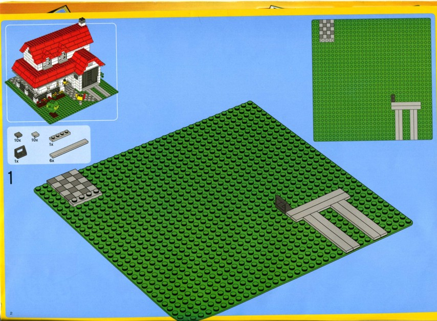 Old lego instructions Step by step to build a house