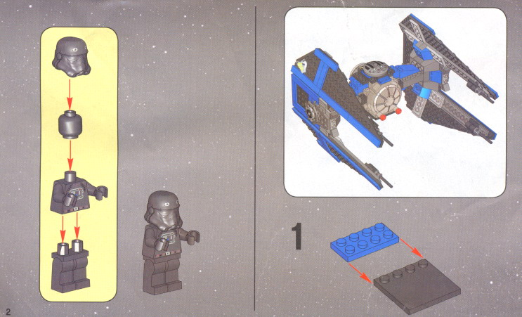 Lego Star Wars Tie Fighter Instructions Image Of Tie