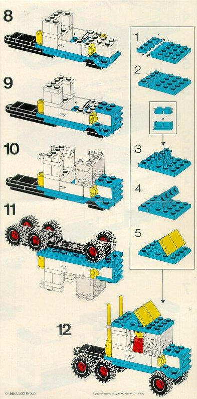 Как сделать из лего грузовик инструкция картинки