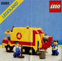 Lego Instructions 6693 Refuse Collection Truck