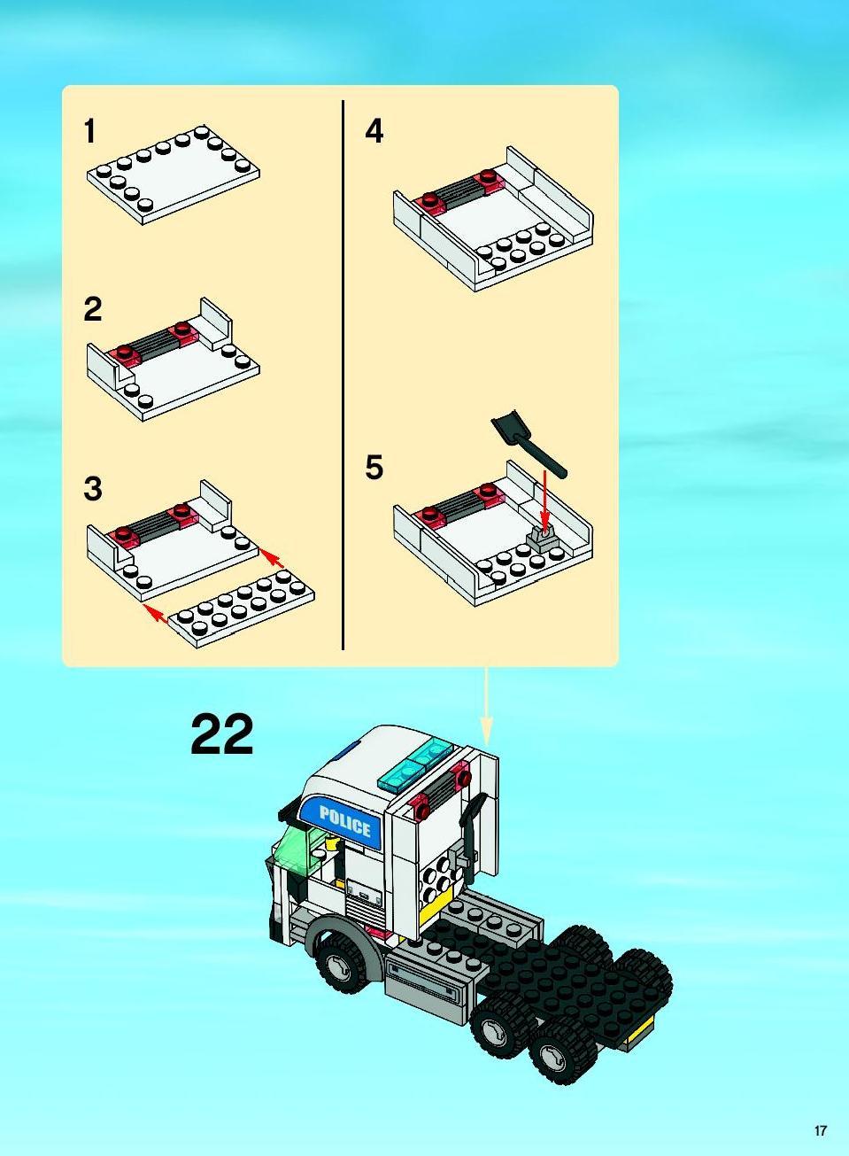 Схема полицейской машины из лего